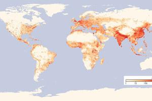 世界各国人口密度排名,全球200个国家人口密度排行