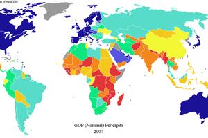 世界200个国家和地区人均GDP数据排名