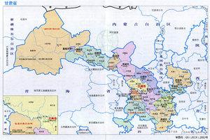 甘肃省各市、区、县面积和人口数量统计