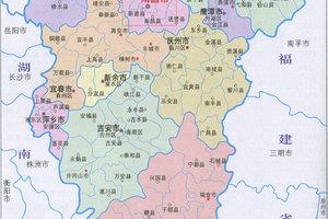 2019年江西省各市人口数量和面积排名